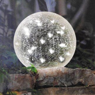 Kynast glazen sfeerlamp craquelé glas